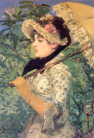Edouard Manet - Spring (or Study of Jeanne Demarsy)