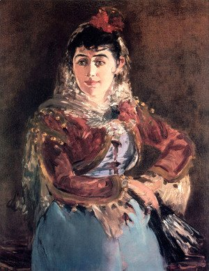Edouard Manet - Portrait of Émilie Ambre in the role of Carmen