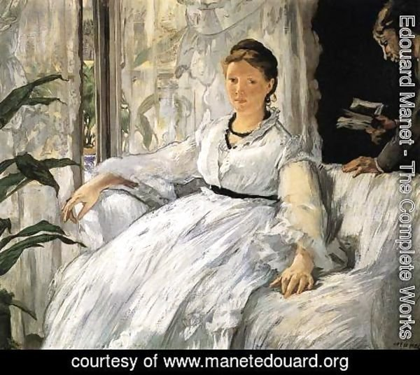 Edouard Manet - Reading (or Mme Manet and Léon)