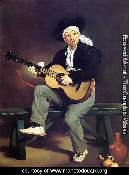 Edouard Manet - The Spanish Singer (or The Guitar Player)
