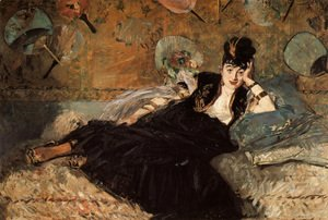 Edouard Manet - Woman with Fans (Nina de Callias)