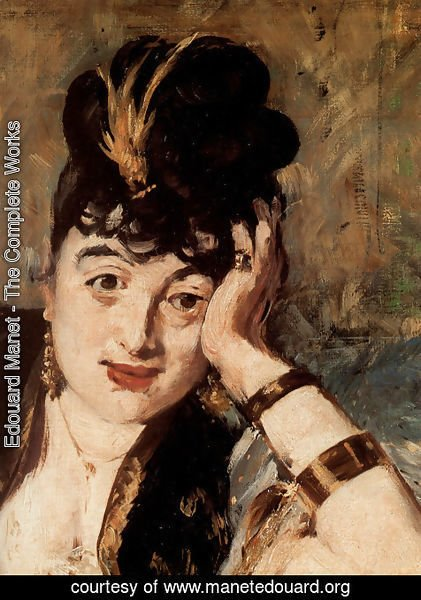 Edouard Manet - Woman with Fans [detail] (Nina de Callias)
