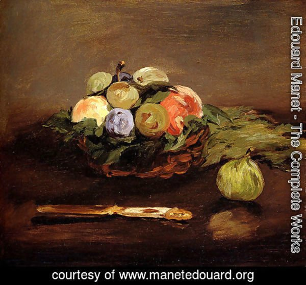 Edouard Manet - Basket Of Fruit