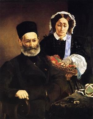 Edouard Manet - Portrait of Monsieur and Madame Manet