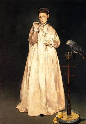 Edouard Manet - Young Lady with a Parrot