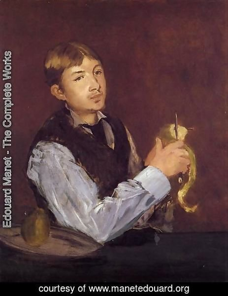 Edouard Manet - Young Man Peeling a Pear