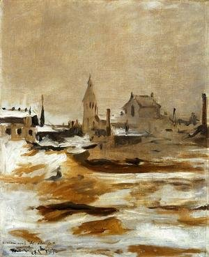 Edouard Manet - Effect of Snow at Petit-Montrouge