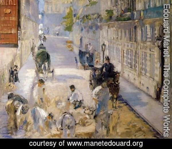 Edouard Manet - Rue Mosnier with Road Menders