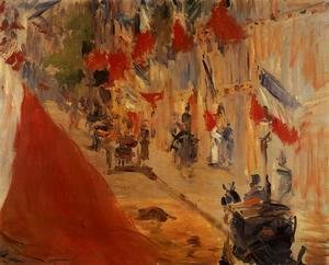 Edouard Manet - Rue Mosnier Decorated with Flags