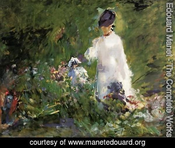 Edouard Manet - Young Woman among the Flowers