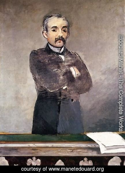 Edouard Manet - Portrait of Clemenceau at the Tribune
