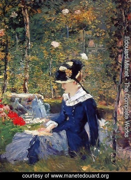 Edouard Manet - Young Woman in the Garden