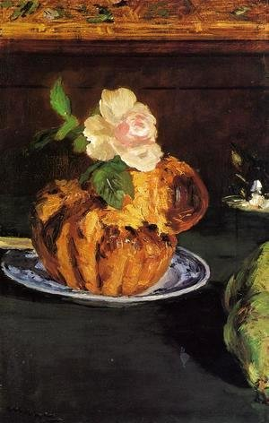 Edouard Manet - Still Life with Brioche