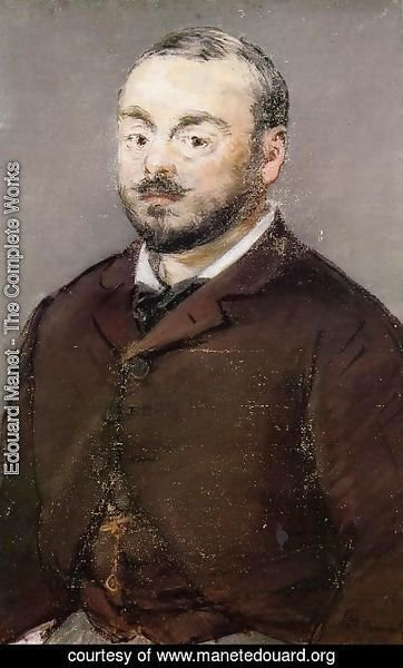 Edouard Manet - Portrait of the Composer Emmanual Chabrier
