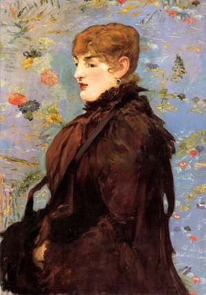 Autumn, Portait of Mery Laurent in a Brown Fur Cape