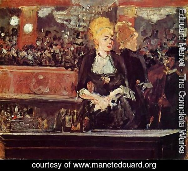 Edouard Manet - Study for 'A Bar at the Folies-Bergere'