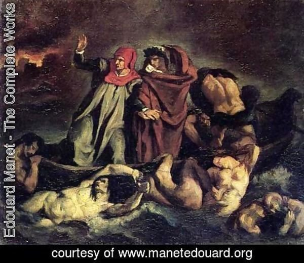 Edouard Manet - The Barque of Dante (after Delacroix)