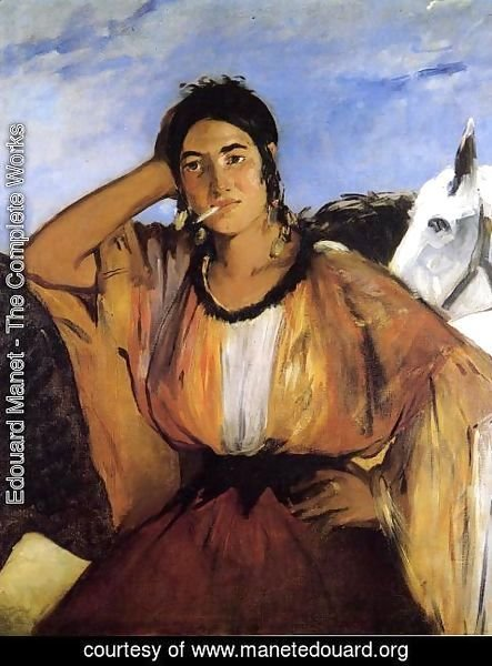 Edouard Manet - Gypsy with Cigarette