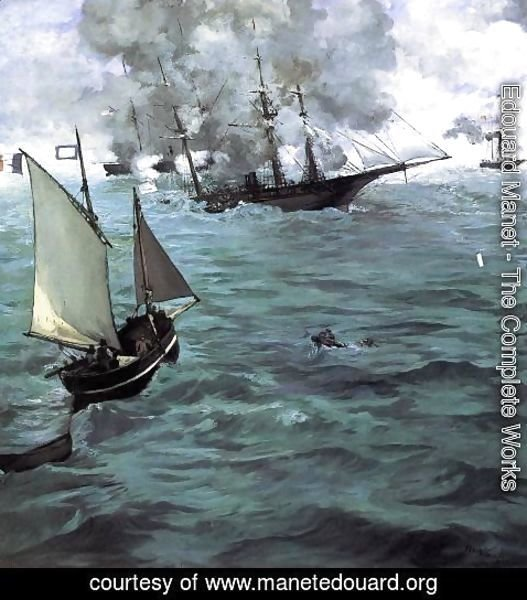 Edouard Manet - Battle of the 'Kearsarge' and the 'Alabama'