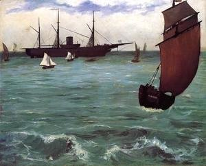 Edouard Manet - Fishing Boat Coming in Before the Wind