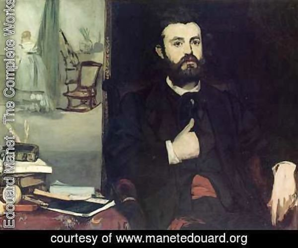Edouard Manet - Portrait of Zacharie Astruc