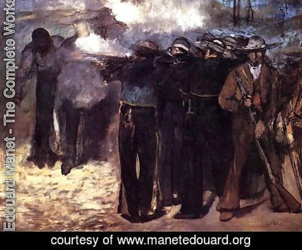 Edouard Manet - The Execution of the Emperor Maximilian