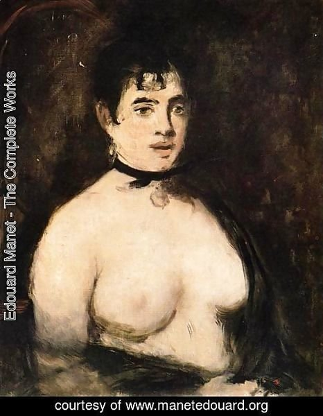 Edouard Manet - The Brunette with Bare Breasts