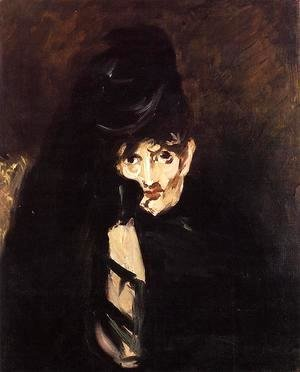 Portrait of Berthe Morisot with Hat, in Mourning