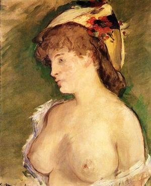 Edouard Manet - The Blond with Bare Breasts