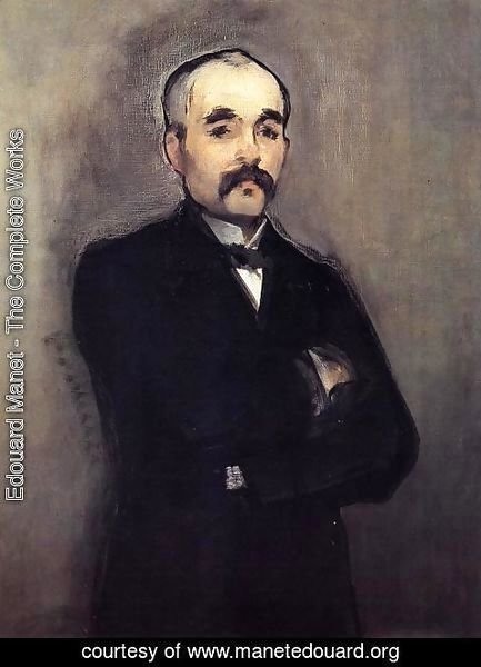 Edouard Manet - Portrait of Clemenceau