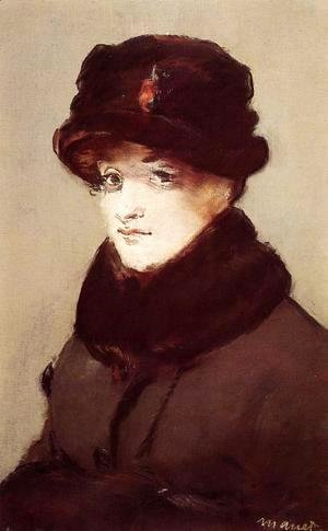 Edouard Manet - Woman in Furs, Portrait of Mery Laurent
