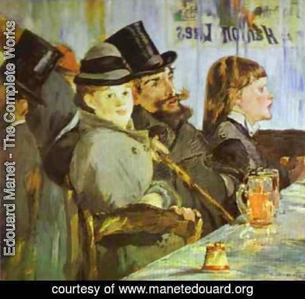 Edouard Manet - At The Cafe
