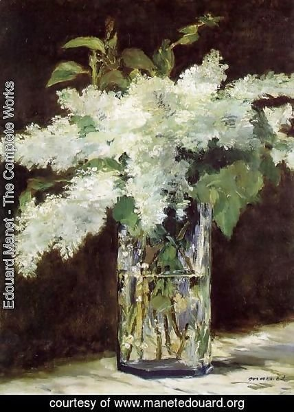 Edouard Manet - Lilacs in a Vase