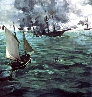Edouard Manet - The Battle of the Kearsarge and Alabama