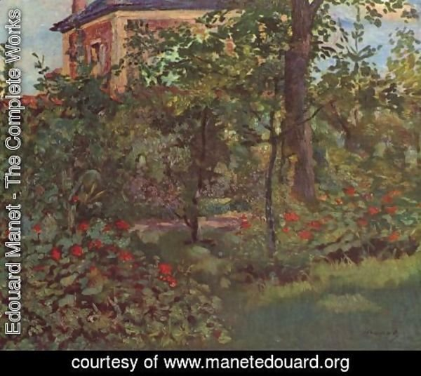 Edouard Manet - A corner in the garden of Bellevue