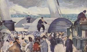 Edouard Manet - Embarkation after Folkestone