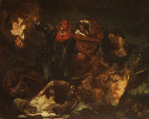 Edouard Manet - Copy after Delacroix's Bark of Dante ca. 1859