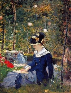 Edouard Manet - Young Woman in the Garden 1880