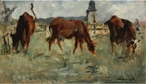 Edouard Manet - Vaches Au Paturage