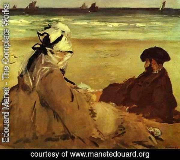 Edouard Manet - Sur la Plage on the beach