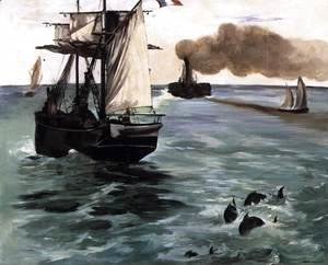 Edouard Manet - Marine View (Seascape with Porpoises)