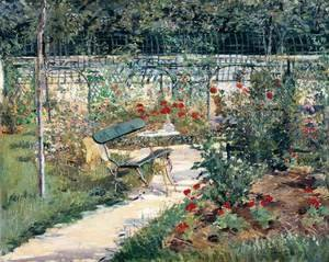 Edouard Manet - Bench in the Garden at Versailles