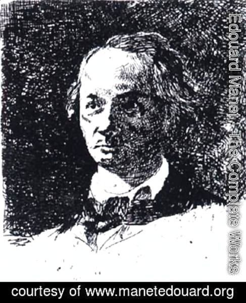 Baudelaire Bareheaded, Full Face