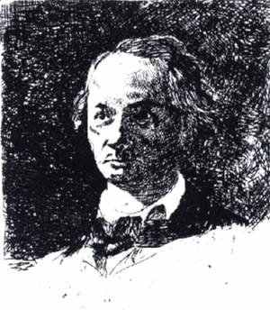 Edouard Manet - Baudelaire Bareheaded, Full Face
