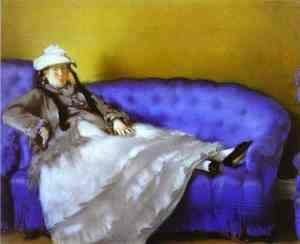 Edouard Manet - Madame Manet on a Blue Sofa