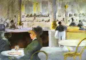 Edouard Manet - Interior of a Cafe 2