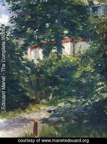 Edouard Manet - The garden around Manet's house