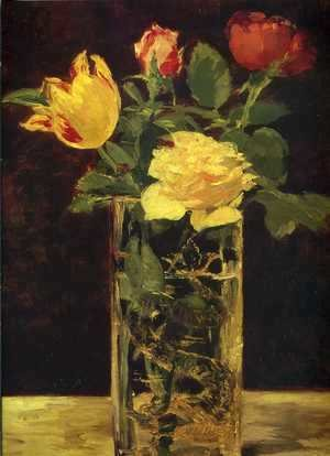 Edouard Manet - Rose and tulip