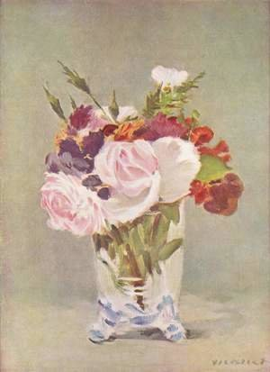 Edouard Manet - Flowers In A Crystal Vase I