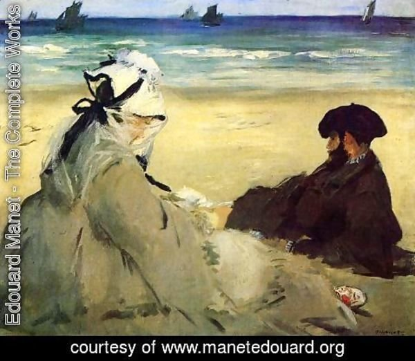 Edouard Manet - On The Beach 1873